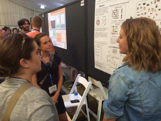 Me presenting Jessica Madrid's poster on hybrid search